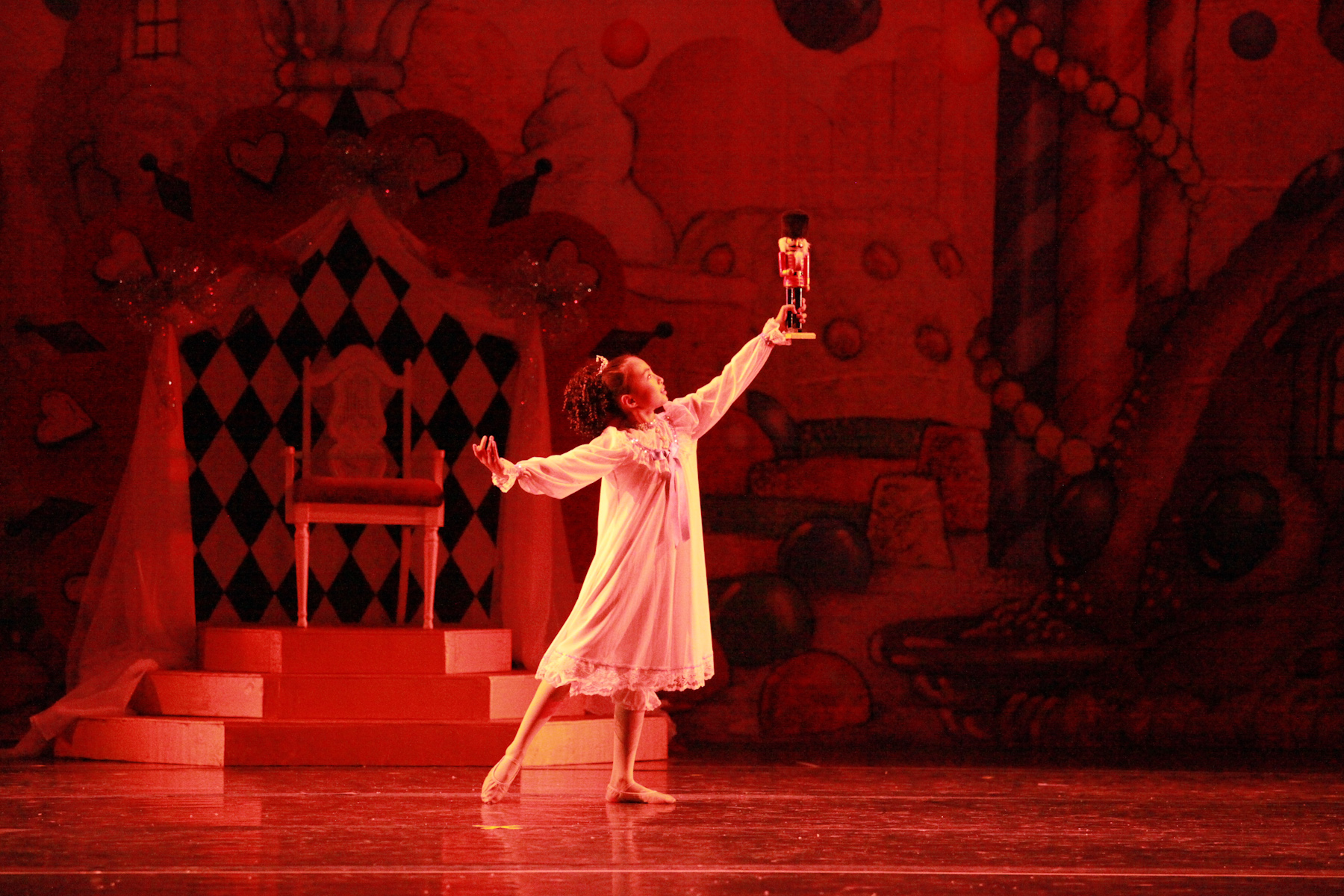 Sarah Zhao as Clara in Jill M. Taylor Dance Company's Nutcracker